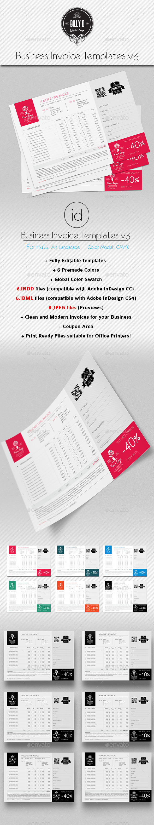 GraphicRiver Business Invoice Templates v3 10102342