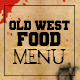Multipurpose old west style food menu - GraphicRiver Item for Sale