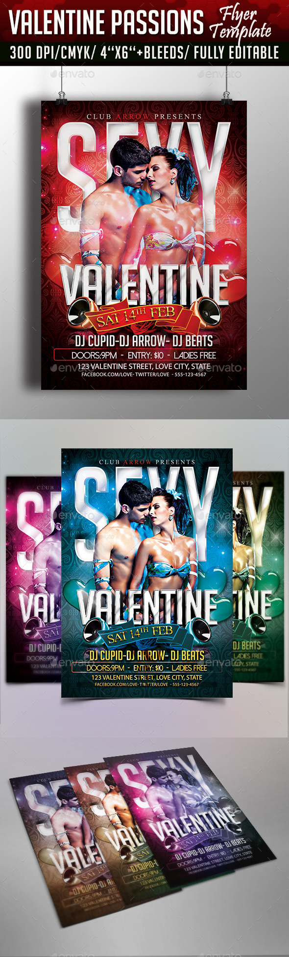 Valentine Passions Flyer Template