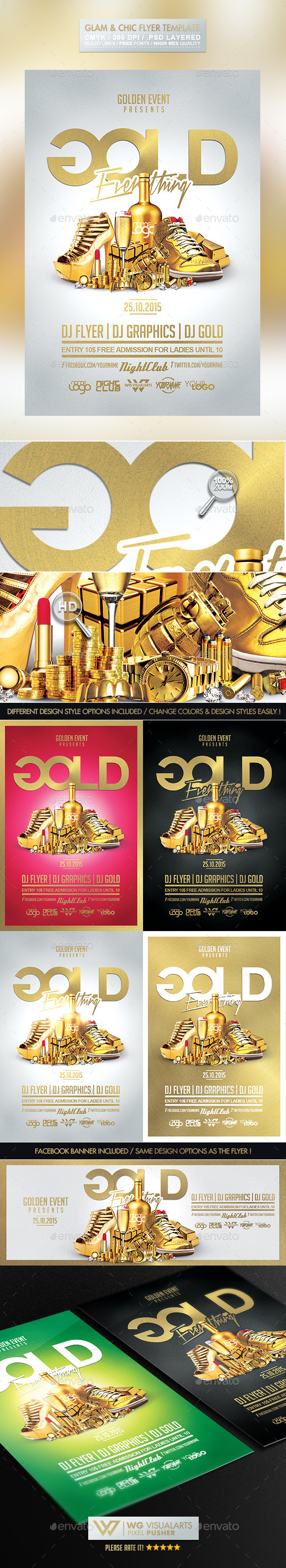 GraphicRiver Gold Bling Bling Flyer Template 10102800