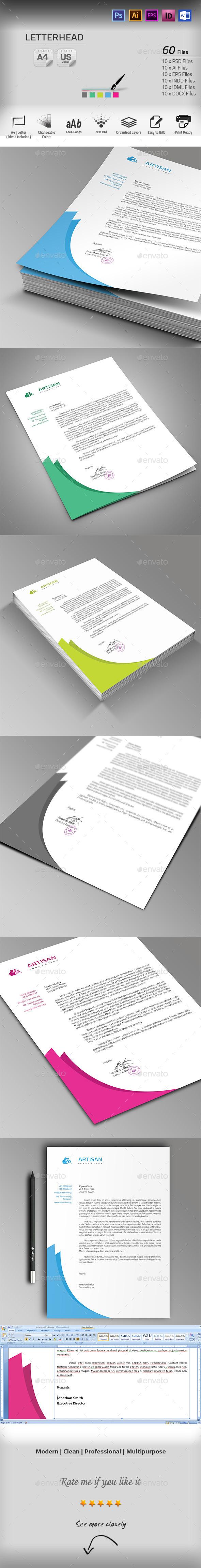 GraphicRiver Letterhead 10102932