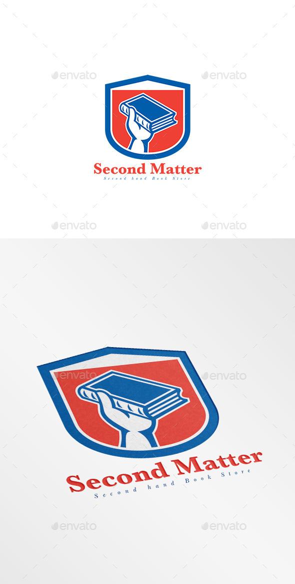 GraphicRiver Second Matter Second Hand Bookstore Logo 10102958