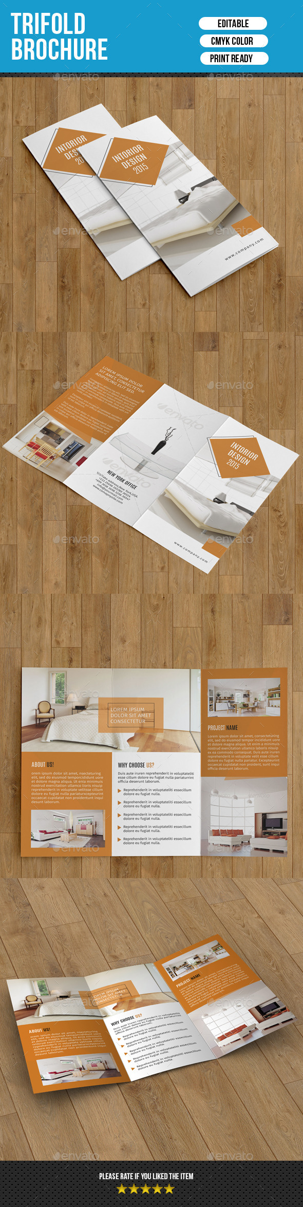 Trifold Brochure for Interior Design-V218