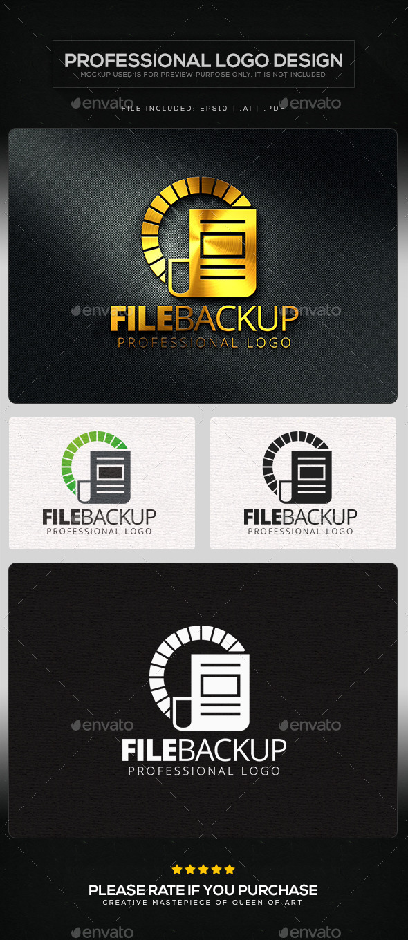 File Backup Logo Template