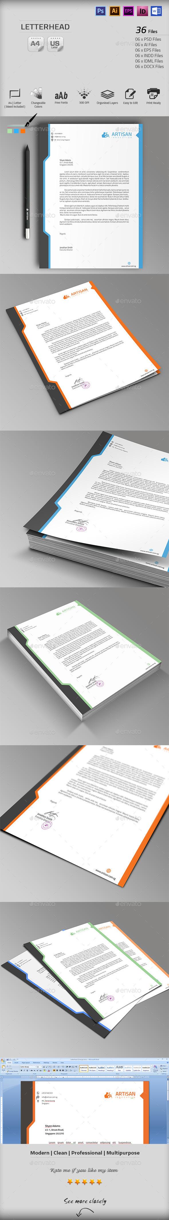 GraphicRiver Letterhead 10103265