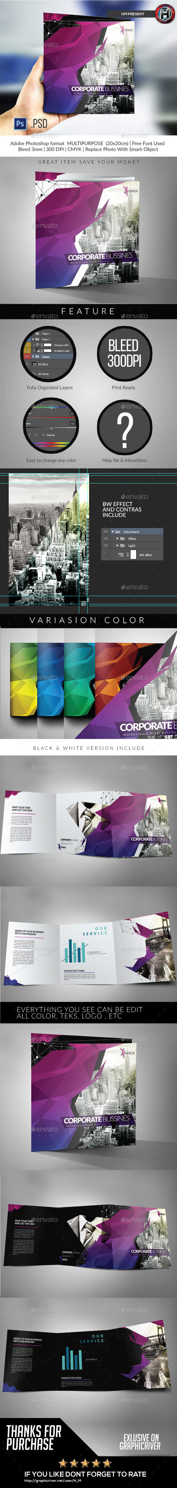 GraphicRiver Square Modern Architecture Trifold 10103283