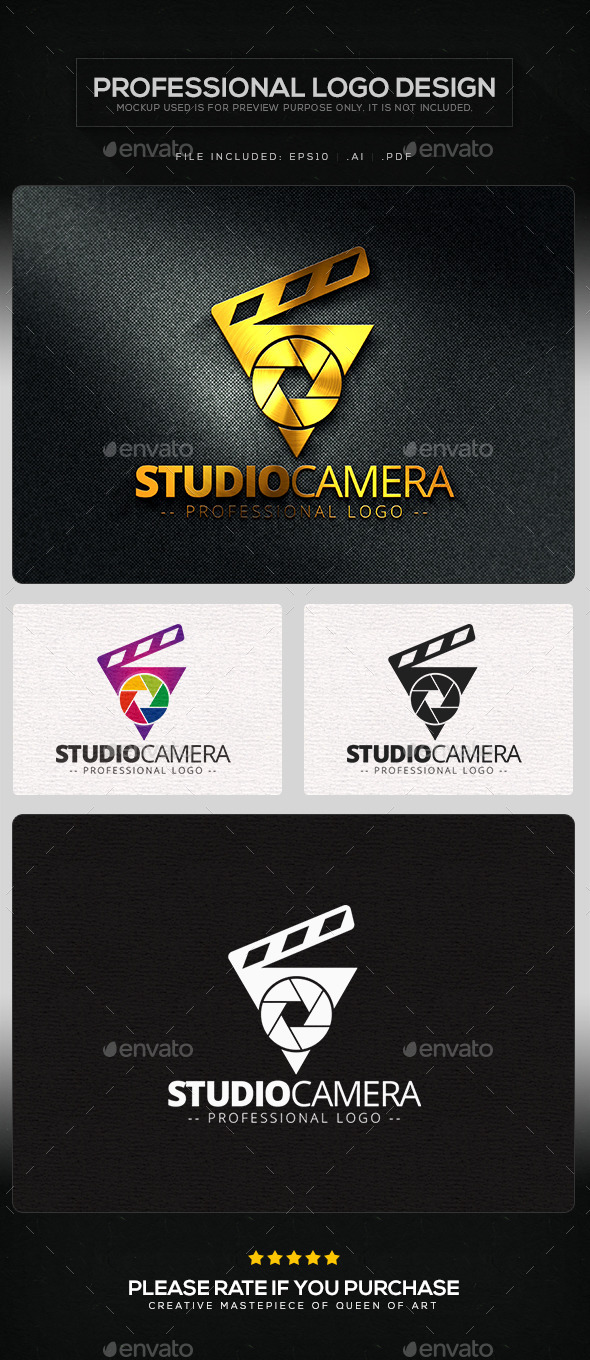 GraphicRiver Studio Camera Logo Template 10103285