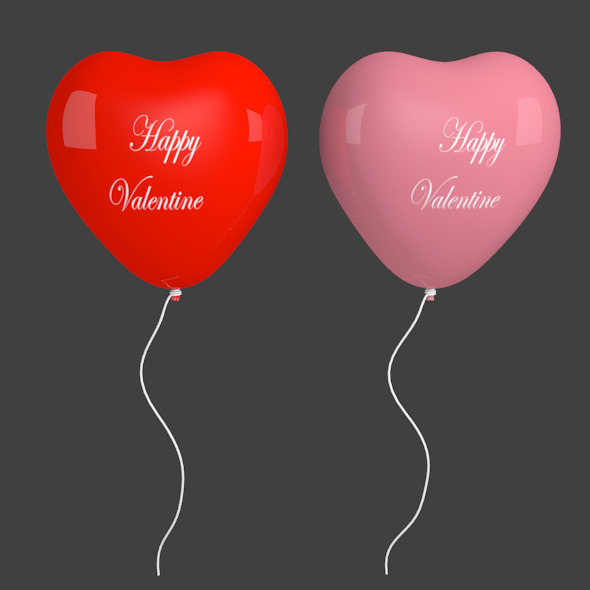 3DOcean Heart Balloon 10103302