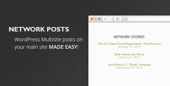 Network Posts plugin will let you display recent posts from all of your WordPress Network sites on your main network site. Plugin includes widget that one could