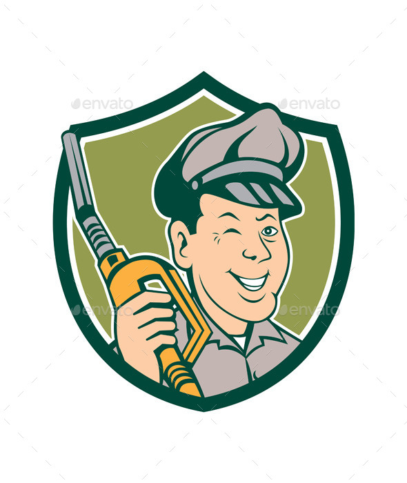 GraphicRiver Gasoline Attendant Fuel Pump Nozzle Shield 10103607