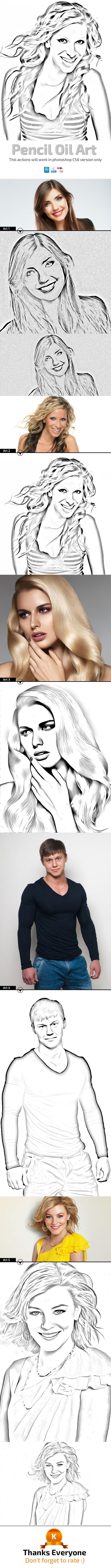 GraphicRiver Pencil Oil Art 10103611