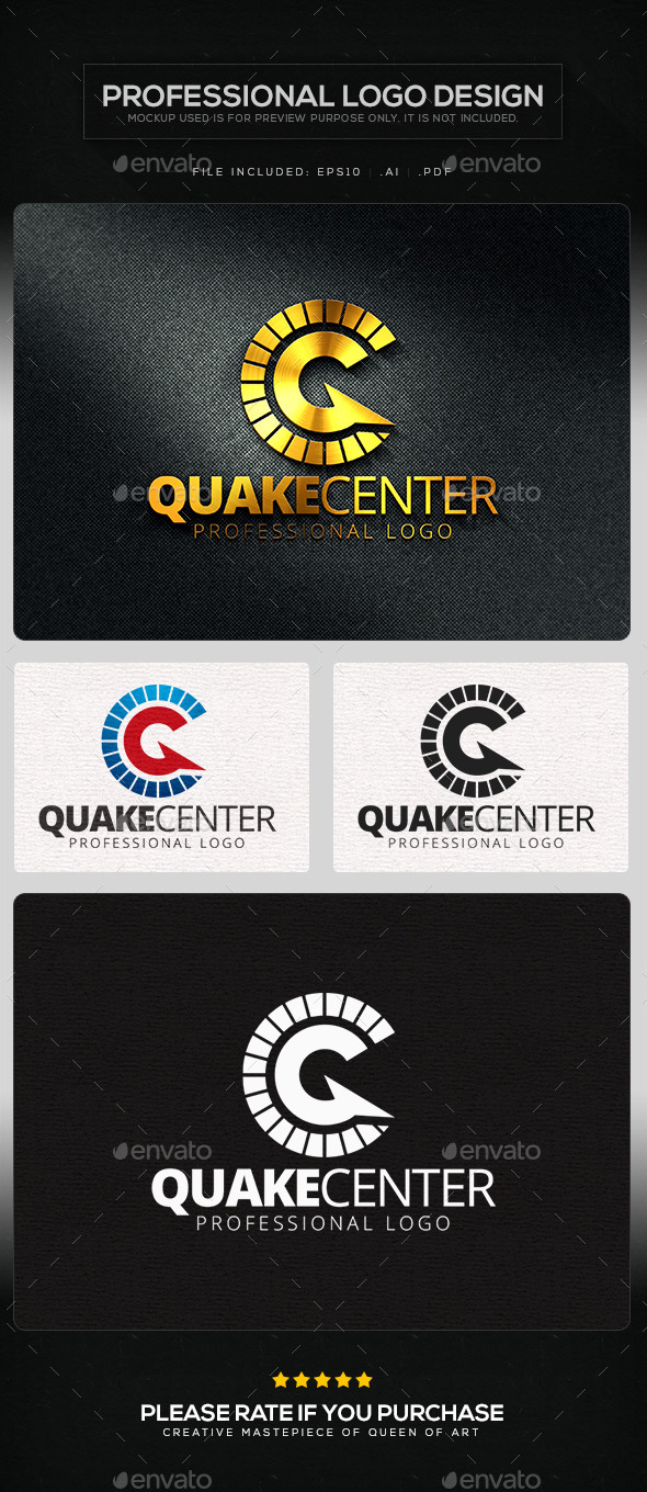 GraphicRiver Quake Center Logo Template 10103691