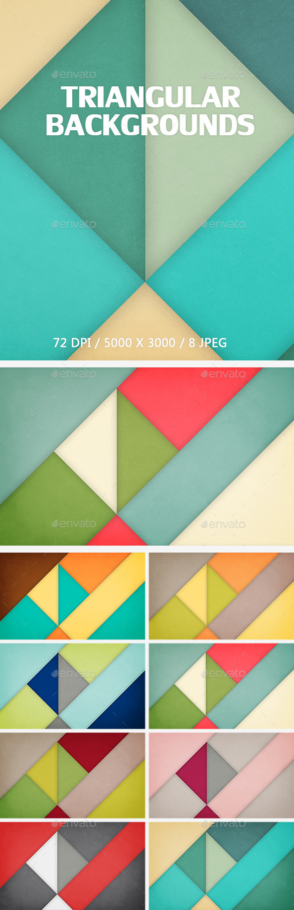 GraphicRiver Triangular Backgrounds 10103709