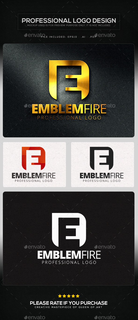 GraphicRiver Emblem Fire Logo Template 10103735