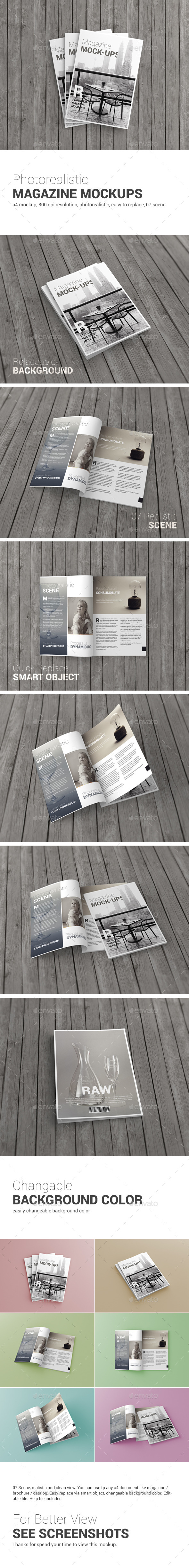 A4 Magazine Brochure Mock-Up