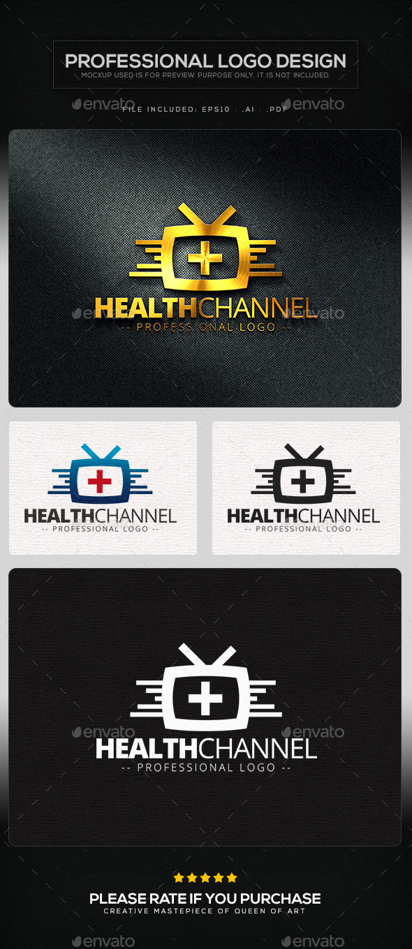 GraphicRiver Health Channel Logo Template 10103752