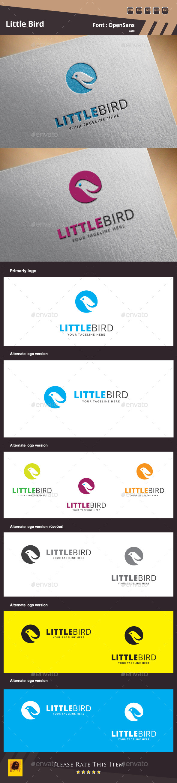 GraphicRiver Little Bird Logo Template 10103854