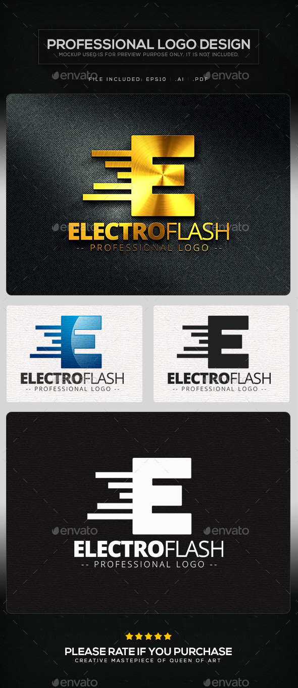 GraphicRiver Electro Flash Logo Template 10104153