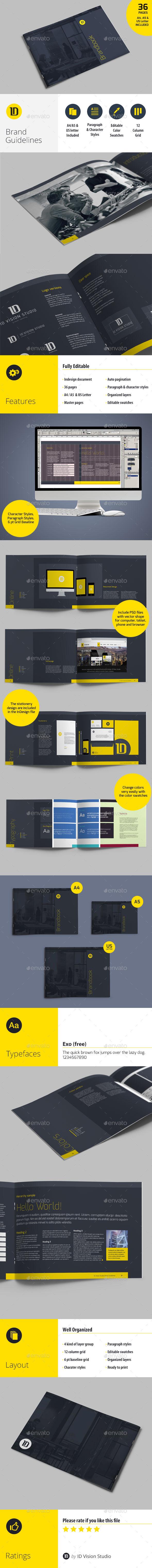 BrandBook Brand Guidelines Template