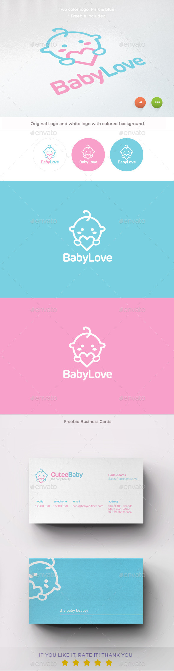 GraphicRiver Baby Love Logo 10104631