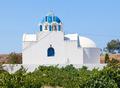 Chapel in the vineyard.Santorini island. Greece. - PhotoDune Item for Sale