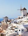 Windmill in Oia, Santorini. - PhotoDune Item for Sale