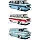 Retro van set - GraphicRiver Item for Sale