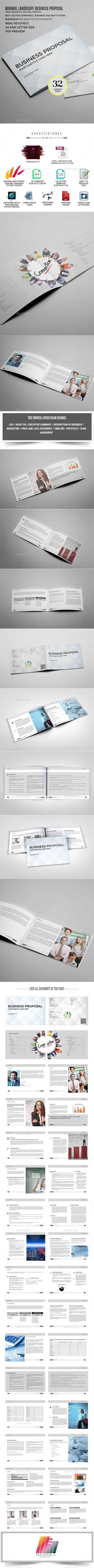 GraphicRiver Simple and Minimal Proposal Template 10104744