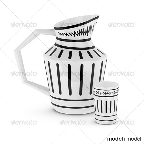 3DOcean Isi jug and cup 127678