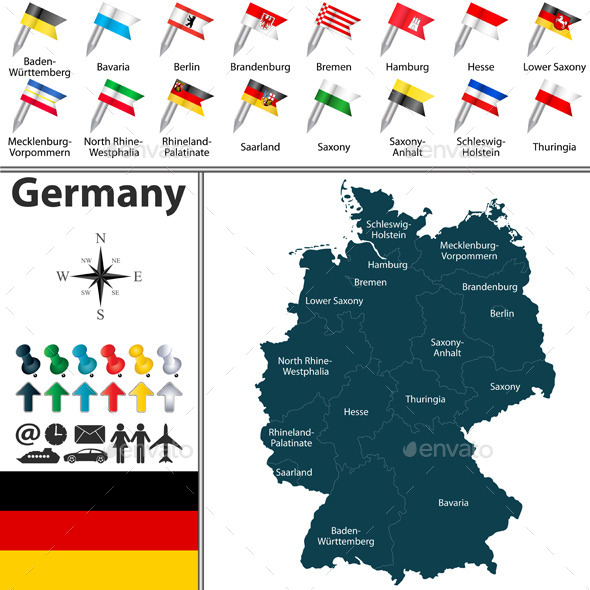 GraphicRiver Map of Germany 10104969