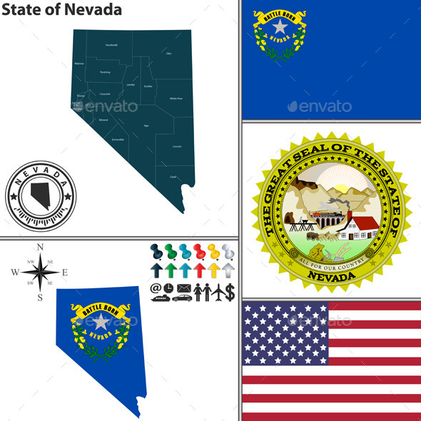 GraphicRiver Map of State Nevada USA 10105002