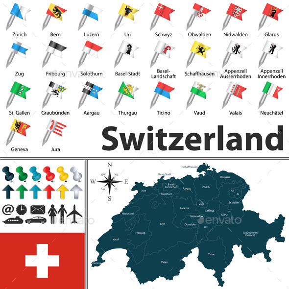 GraphicRiver Map of Switzerland 10105020