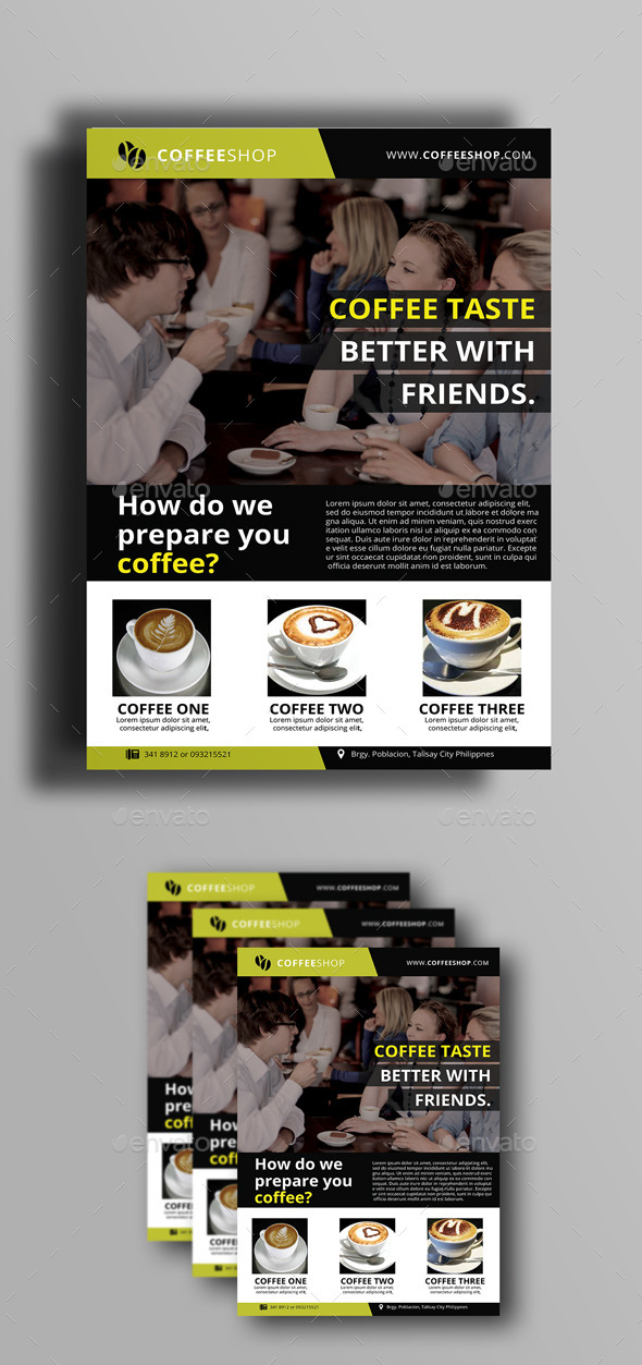 GraphicRiver Coffee Shop Flyer 10105043