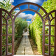 open door arch with access to the alley - PhotoDune Item for Sale