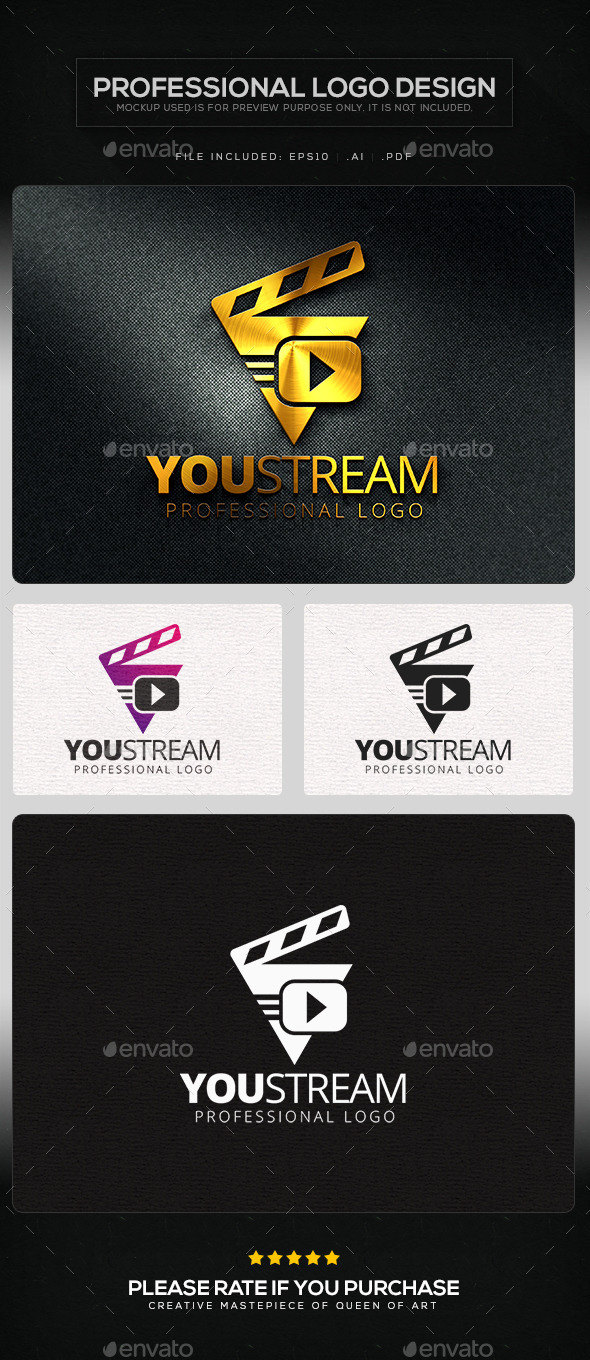 GraphicRiver You Stream Logo Template 10105697