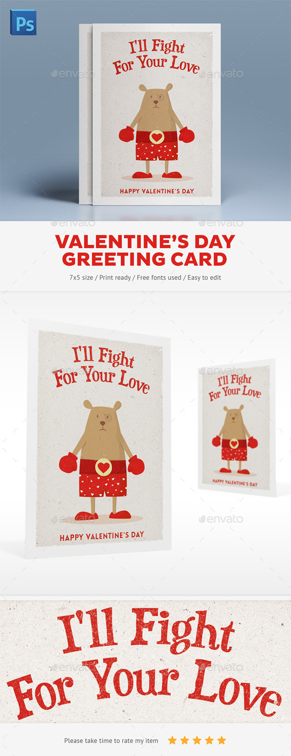 GraphicRiver Valentine's Day Greeting Card 10105899