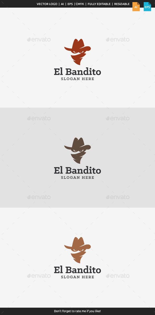 GraphicRiver El Bandito Bandit Logo 10105913