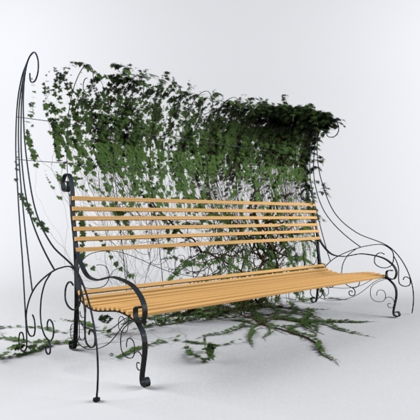 3DOcean Bench with Hedgegrow 10105917