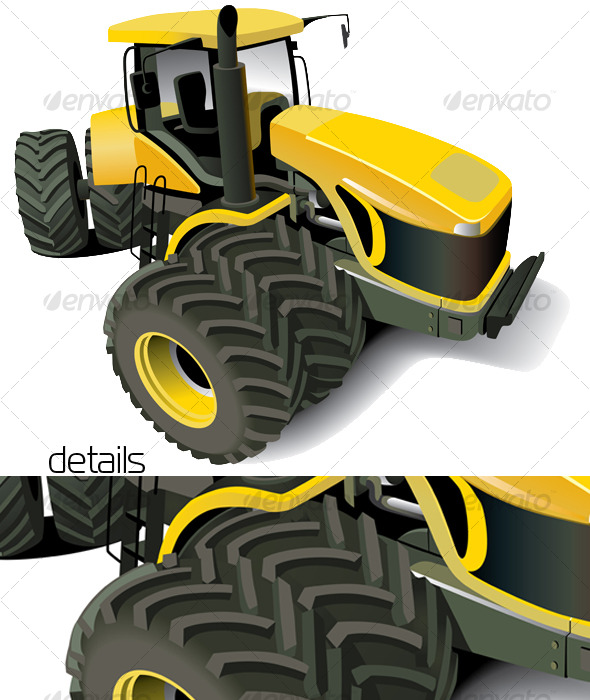 Yellow Modern Tractor