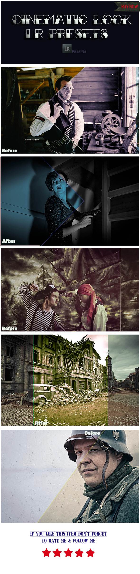 GraphicRiver 5 Cinematic Look Presets 10106456
