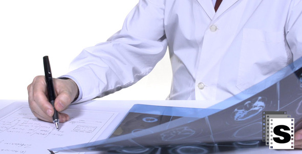 VideoHive Doctor Writing Prescription In Office 10106663