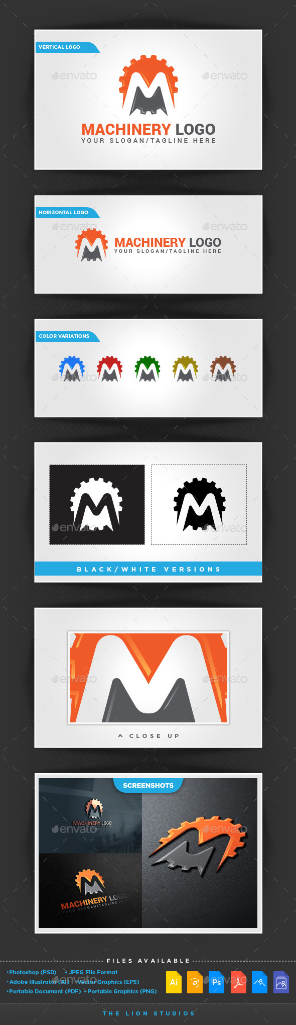 GraphicRiver Machinery Logo Template 10106667