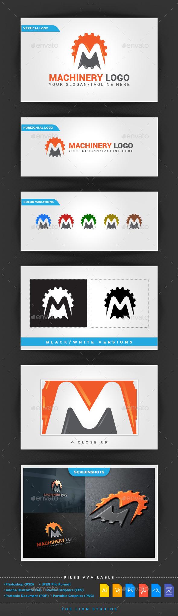 GraphicRiver Machinery Logo Template 10106667