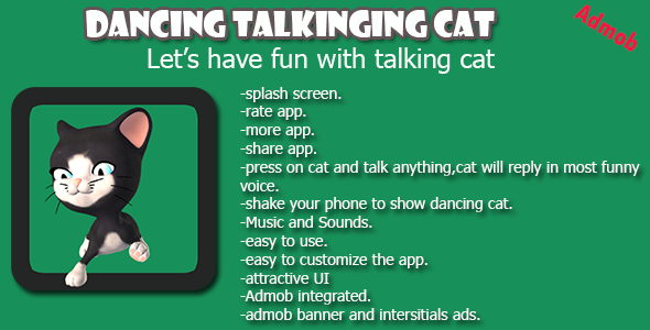 CodeCanyon Talking Dancing Cat Android App 10106671