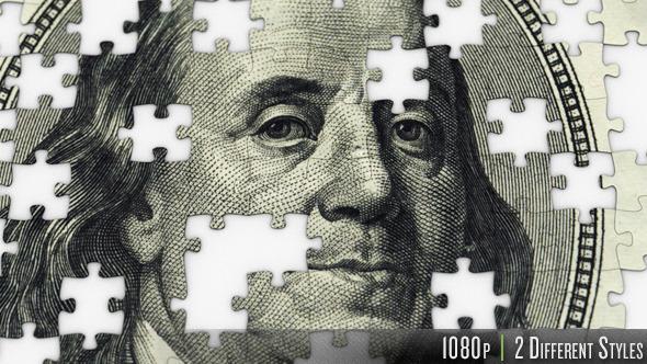 VideoHive $100 Dollar Ben Franklin Jigsaw Puzzle 10106733