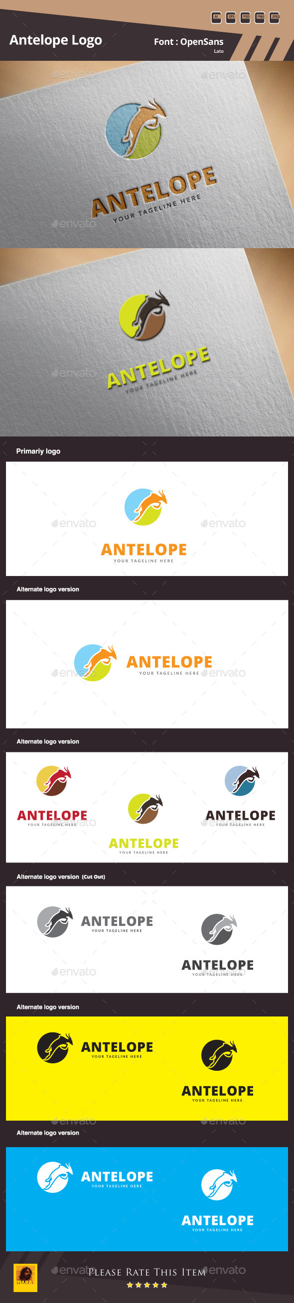 GraphicRiver Antelope Logo Template 10106734