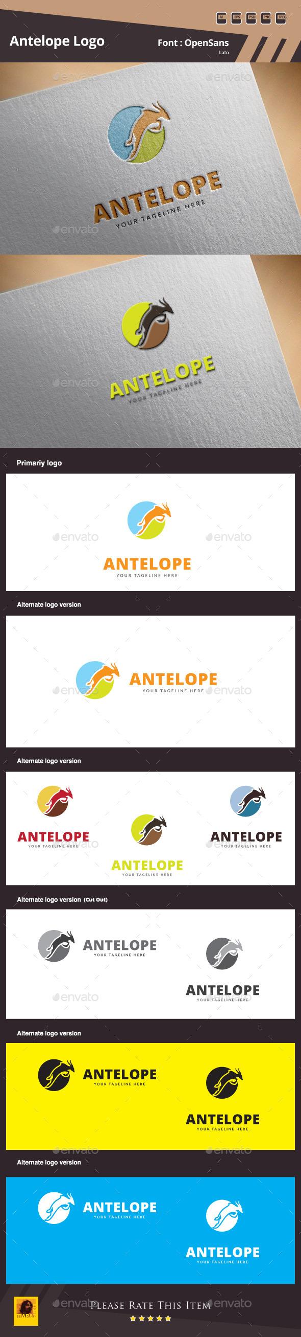 Antelope Logo Template