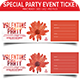 Special Party Event Ticket  - GraphicRiver Item for Sale