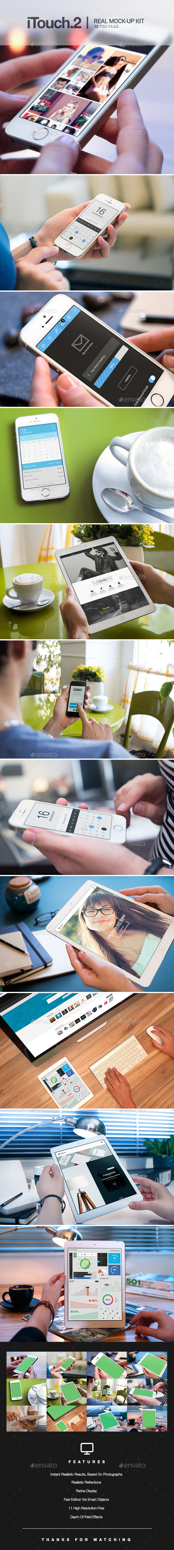 GraphicRiver iTouch 2 12 Photorealistic MockUp 9609098
