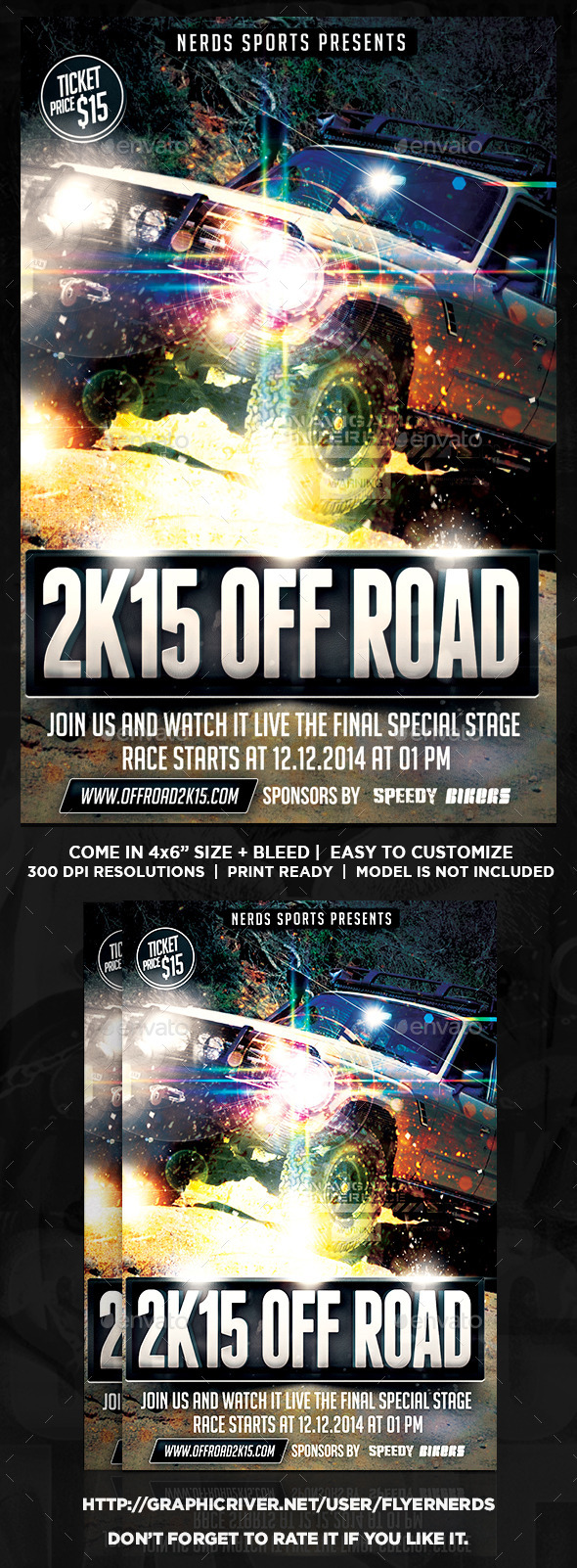 GraphicRiver Off Road 2K15 Exhibition Sports Flyer 10106978